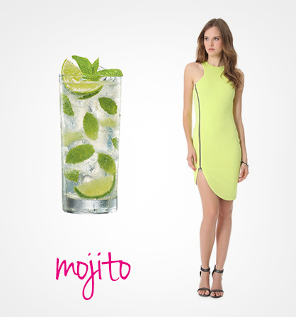 Dresses Inspired by Summer Cocktails: Mojito