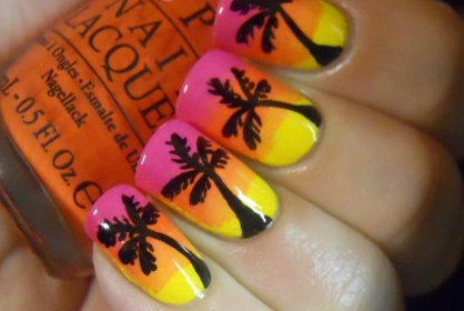 Summer Nail Art Sunset