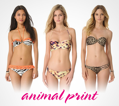 2013 Swimwear Trends Animal Prints