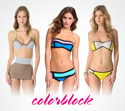 2013 Swimwear Trends Colorblocking