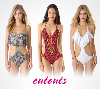 Spring & Summer 2013 Swimwear Trends Cutouts