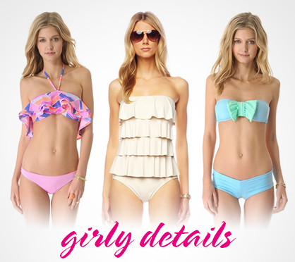 2013 Spring Swimwear Trends Girly Accents