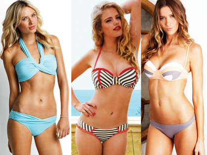 Swimsuits for your body type: top-heavy