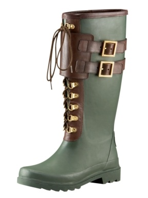 Lace Up Rain Boots - Cr Boot