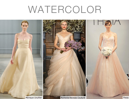 Colorful Bridal Dresses