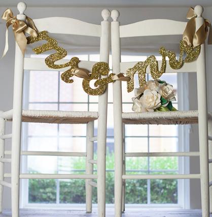 Wedding DIY Ideas: Mr. and Mrs. Banner