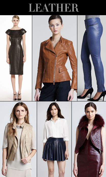 Pre-Fall 2013 Leather Trend