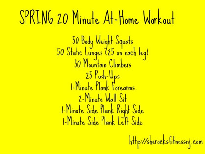 20 Minute Calorie Burning Workout