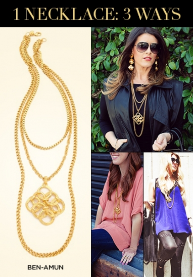 LUX Style: How To Wear 1 Necklace 3 Ways