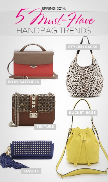Spring 2014: 5 Must-Have Handbag Trends