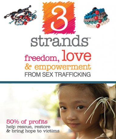 3Strands fights human trafficking with fashion bracelets
