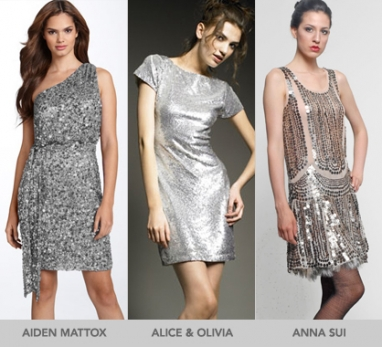 NYE 2010: The Silver Sequin Dress