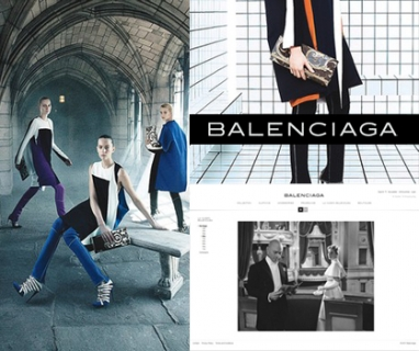 Balenciaga takes on the Web