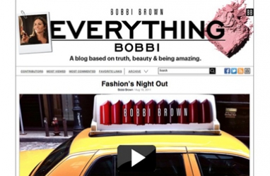 Bobbi Brown tells her story through new blog