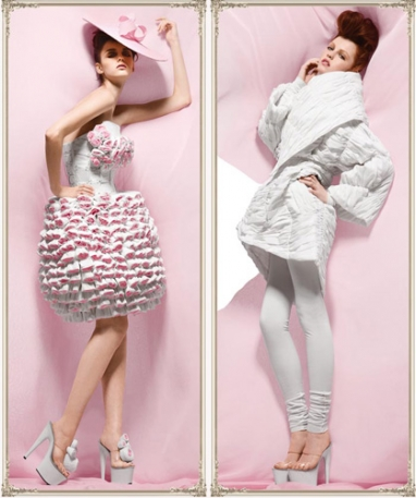 Fashion with Compassion:  2009 Cashmere Collection made with Bathroom Tissue