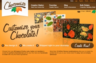 New Online Chocolate Location for Customizing Your Flavor, Chocomize