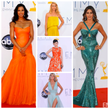 2012 Emmy Awards: bright and bold colors