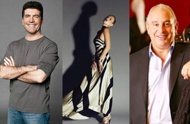 Sir Philip Green, Kate Moss & Simon Cowell Join Forces