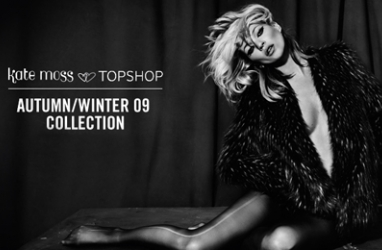 Kate Moss Sizzles in Black & White for Topshop's Fall 2009 Collection