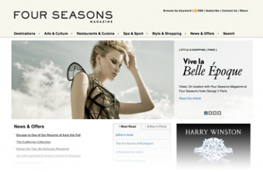 Four Seasons Hotels and Resorts Launches New Online Magazine