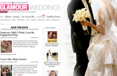 New Wedding Resource added to Glamour.com