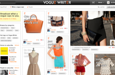 Online shopping community Vogue Writer allows users to share stories to earn discount