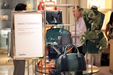 Santiago Gonzalez visits Neiman Marcus to present Nancy Gonzalez's one-of-a-kind collection