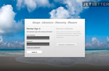 LUX Travel:  Jetsetter, Exclusive New Member-Only Site