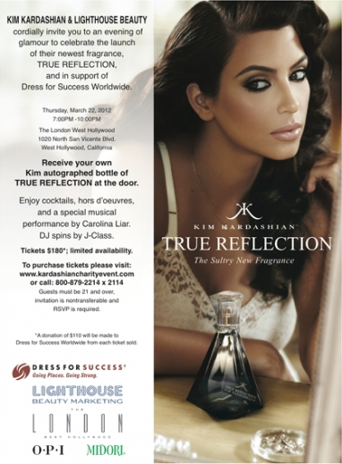 Kim Kardashian's True Reflection launch event to benefit Dress for Success