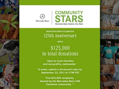 Mercedes-Benz launches Community Stars challenge for grassroots charities