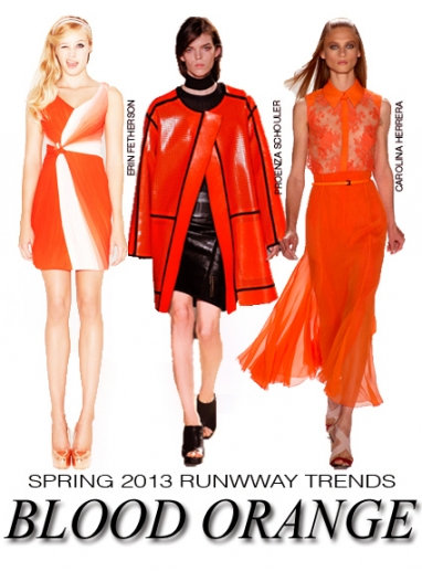 NYFW Spring 2013 runway trends: blood orange