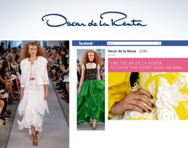 Oscar de la Renta unveils Facebook commerce