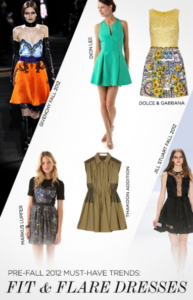 Pre-Fall 2012 trends: fit-and-flare dresses