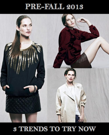 Pre-Fall 2013: 3 Trends to Shop Now