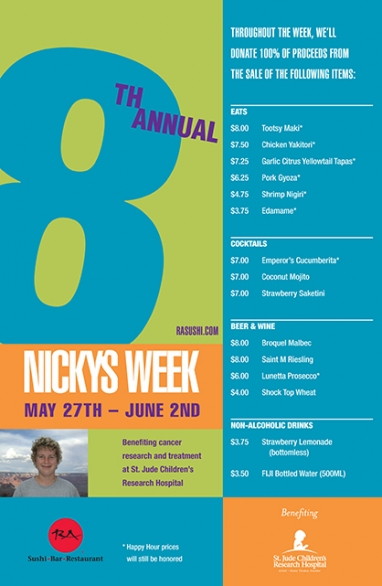 RA Sushi hosts 8th Annual Nicky's Week