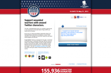 Hashtags4Heros Twitter campaign donates unused characters