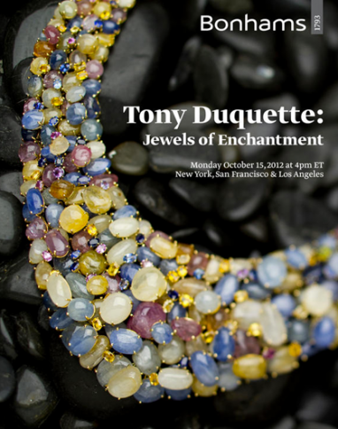 """Tony Duquette: Jewels of Enchantment"" Bonhams auction begins October 15"