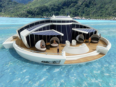 Michele Puzzolante's Solar Floating Resort is an offshore eco retreat