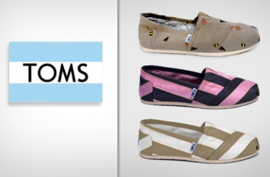 Exclusive New Line of TOMS Shoes Now Available in Select Stores