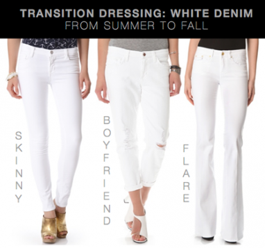 Transition Dressing: How to Wear White Denim From Summer to Fall