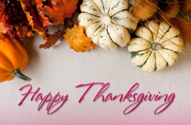 Happy Thanksgiving:  We Give Thanks for YOU, LUX Nation