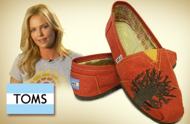 TOMS Shoes Taps Charlize Theron to Design Limited-Edition Shoe for Charity