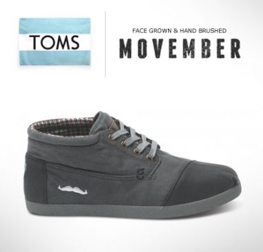 Movember and TOMS team up for shoes to benefit cancer efforts