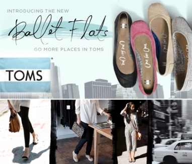 TOMS releases line of ballet flats