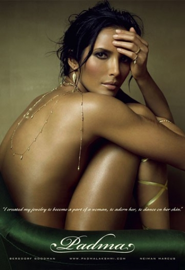 Top Chef Host, Padma Lakshmi, Launches New Jewelry Ad Campaign