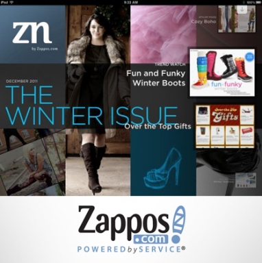 Zappos.com releases Zappos Now fashion magazine for iPads