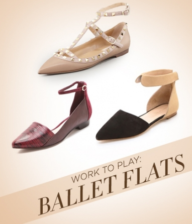 Get the Look: Ballet Flats for Work and Play