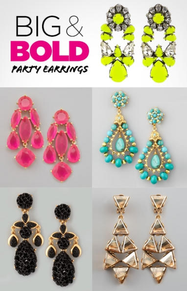 LUX Style: Big & Bold Party Earrings