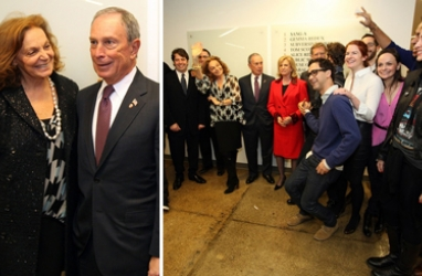 Bloomberg, von Furstenberg meet over industry efforts