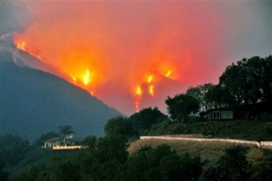 Santa Barbara Homes Under Fire